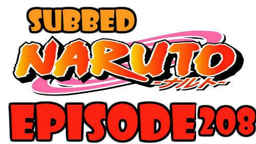 Naruto Episode 208 Subbed English Free Online