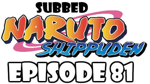 Naruto Shippuden Episode 81 Subbed English Free Online