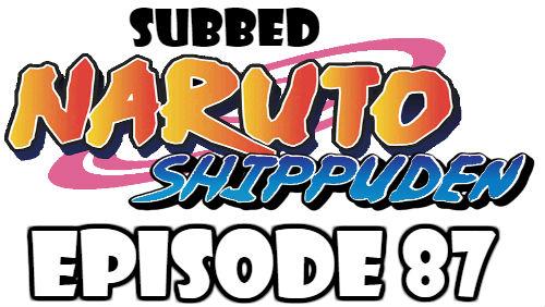 Naruto Shippuden Episode 87 Subbed English Free Online
