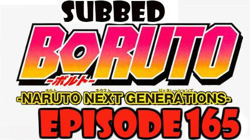 Boruto Episode 165 Subbed English Free Online