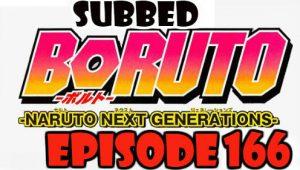 Boruto Episode 166 Subbed English Free Online