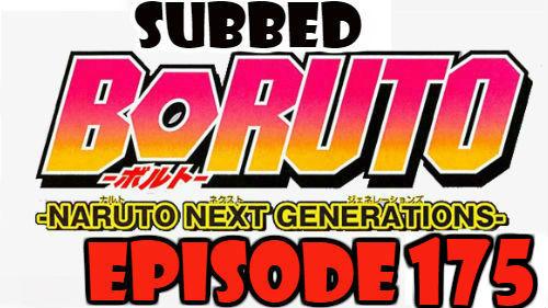 Boruto Episode 175 Subbed English Free Online