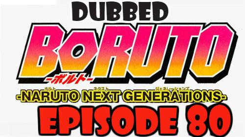 Boruto Episode 80 Dubbed English Free Online