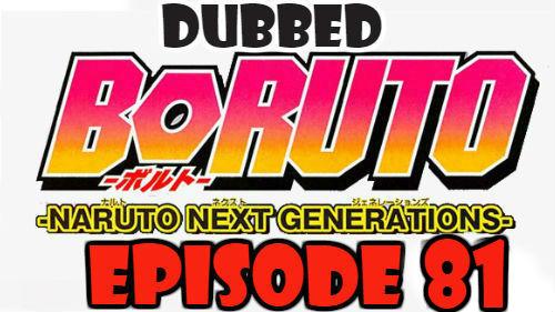 Boruto Episode 81 Dubbed English Free Online