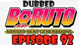 Boruto Episode 92 Dubbed English Free Online