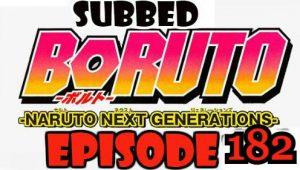 Boruto Episode 182 Subbed English Free Online