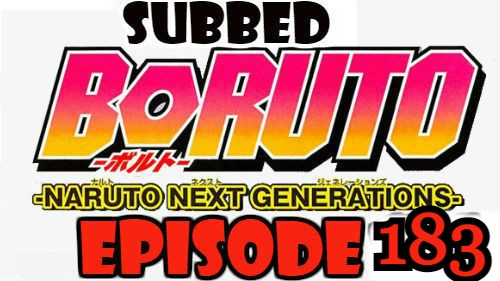 Boruto Episode 183 Subbed English Free Online