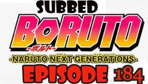 Boruto Episode 184 Subbed English Free Online