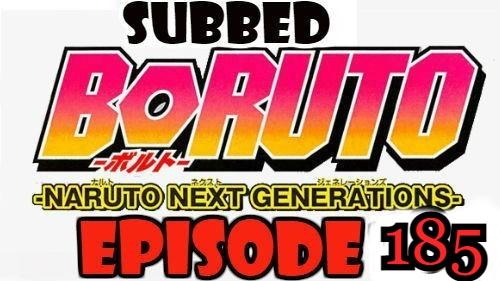 Boruto Episode 185 Subbed English Free Online