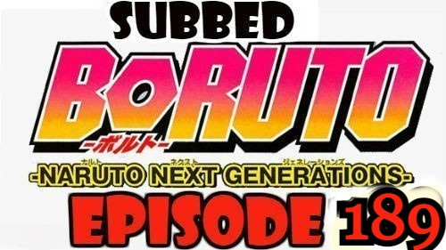 Boruto Episode 189 Subbed English Free Online