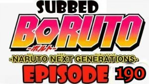 Boruto Episode 190 Subbed English Free Online