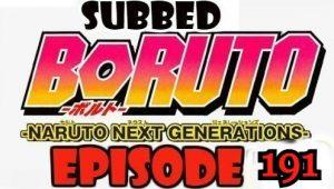Boruto Episode 191 Subbed English Free Online
