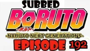 Boruto Episode 192 Subbed English Free Online