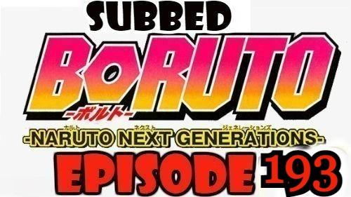 Boruto Episode 193 Subbed English Free Online