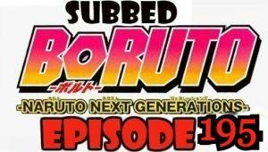 Boruto Episode 195 Subbed English Free Online