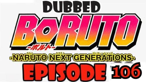 Boruto Episode 106 Dubbed English Free Online