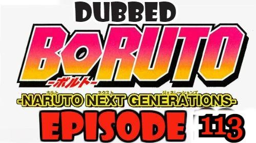 Boruto Episode 113 Dubbed English Free Online