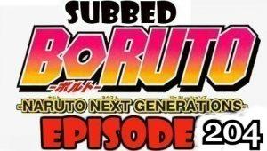 Boruto Episode 204 Subbed English Free Online
