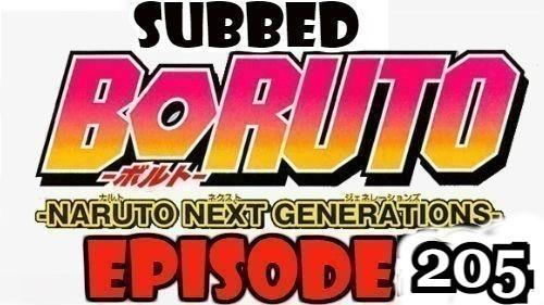 Boruto Episode 205 Subbed English Free Online