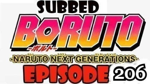 Boruto Episode 206 Subbed English Free Online