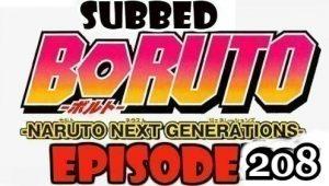 Boruto Episode 208 Subbed English Free Online