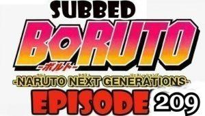 Boruto Episode 209 Subbed English Free Online