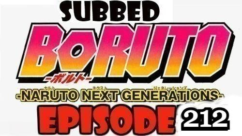 Boruto Episode 212 Subbed English Free Online