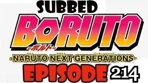 Boruto Episode 214 Subbed English Free Online