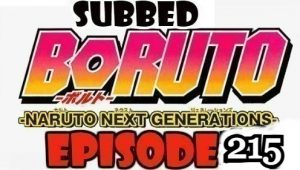 Boruto Episode 215 Subbed English Free Online