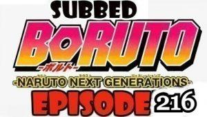 Boruto Episode 216 Subbed English Free Online