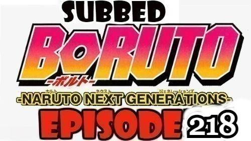 Boruto Episode 218 Subbed English Free Online