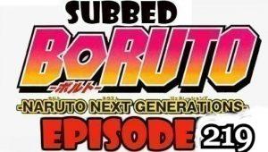 Boruto Episode 219 Subbed English Free Online